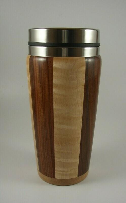Maple and Walnut Travel Mug