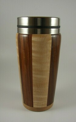 Maple and Walnut Travel Mug