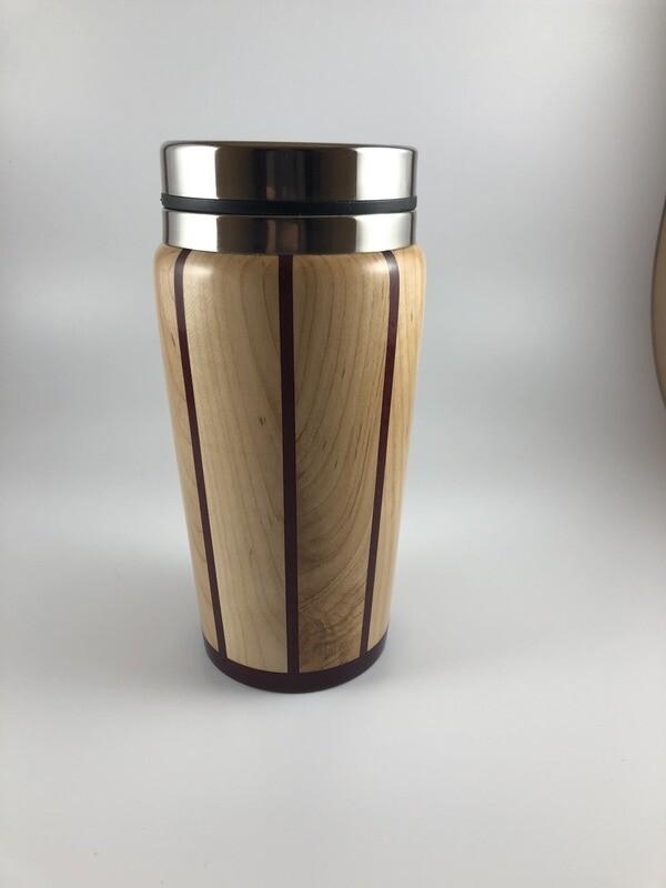 Maple and Purple Heart Travel Mug