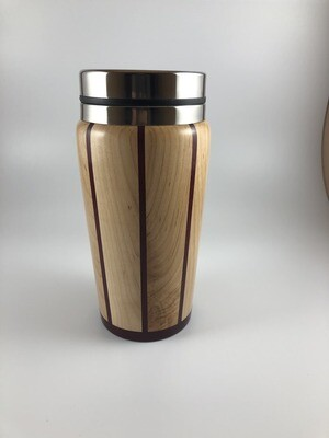 Maple and Purple Heart Travel Mug