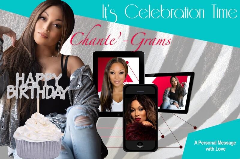 Chante'-Gram | Adult or Child's BIRTHDAY Greeting