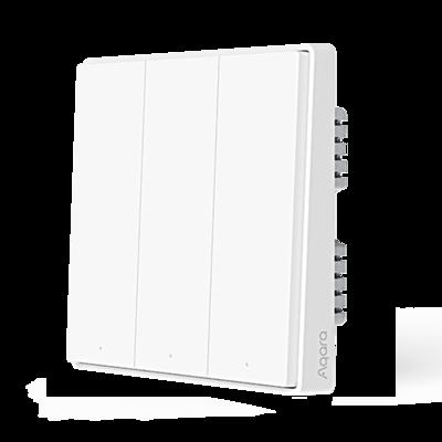 Aqara Smart Wall Switch D1 (No Neutral, Triple Rocker)