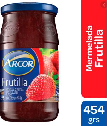 Mermelada Arcor Frutilla x454Gr