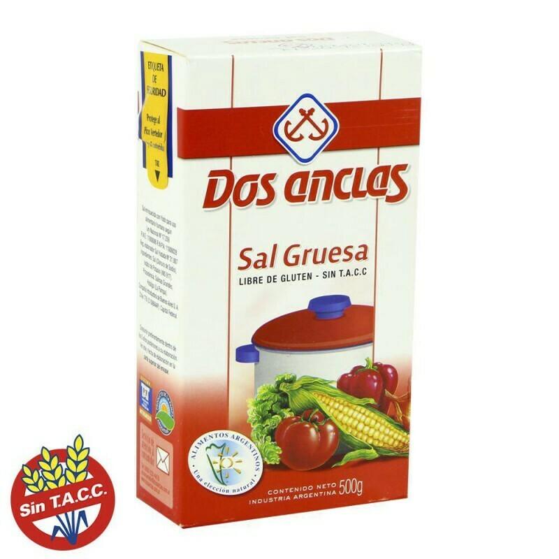 Sal Dos Anclas Gruesa Caja 500gr