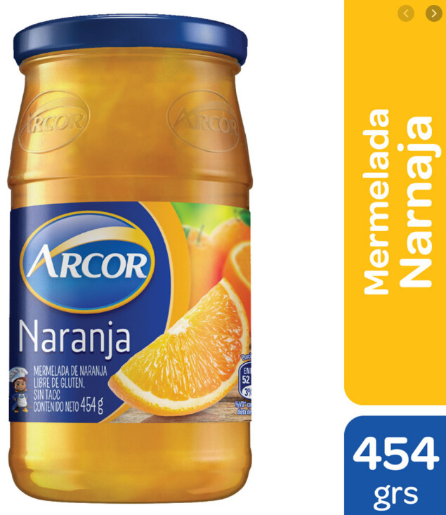 Mermelada Arcor Naranja x454Gr