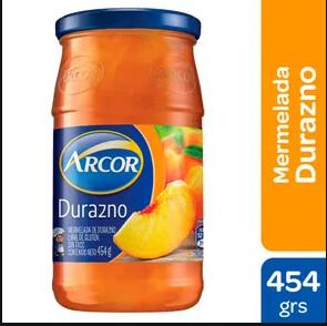 Mermelada Arcor Durazno x454Gr