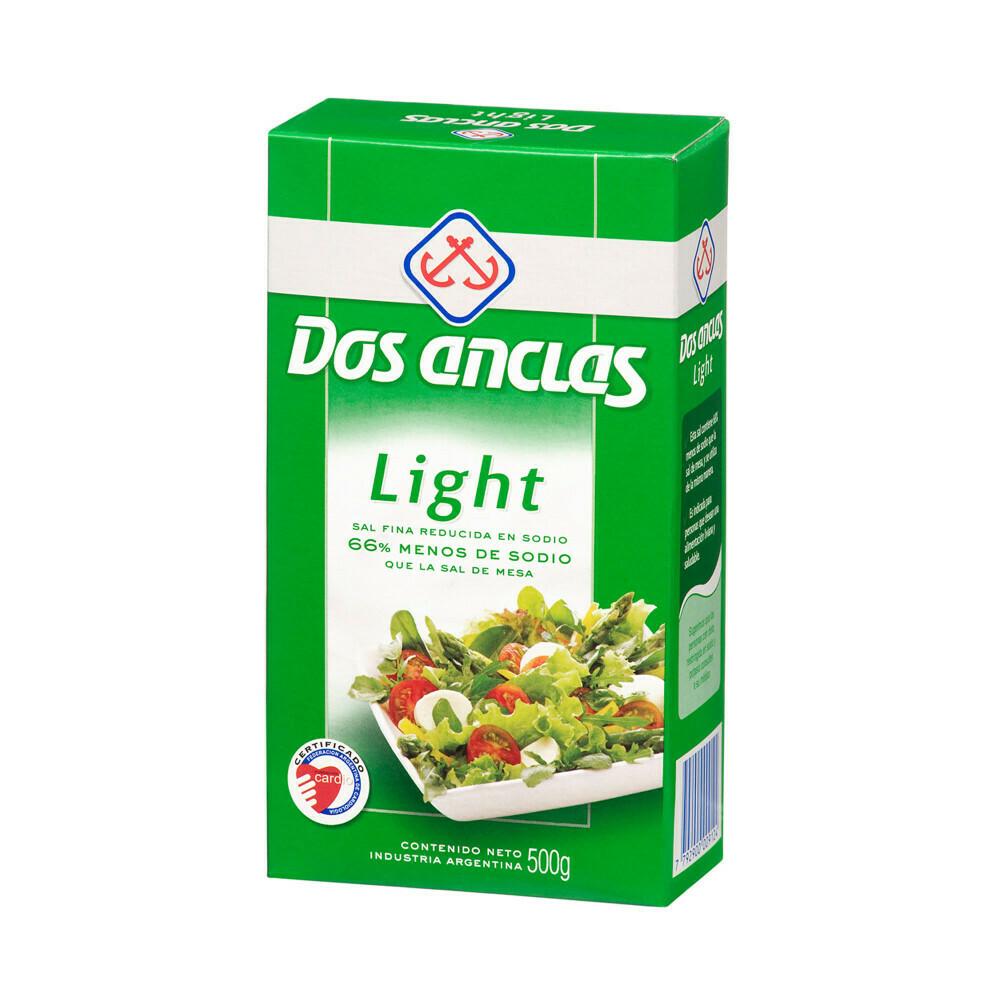 Sal Dos Anclas Light Caja 500gr