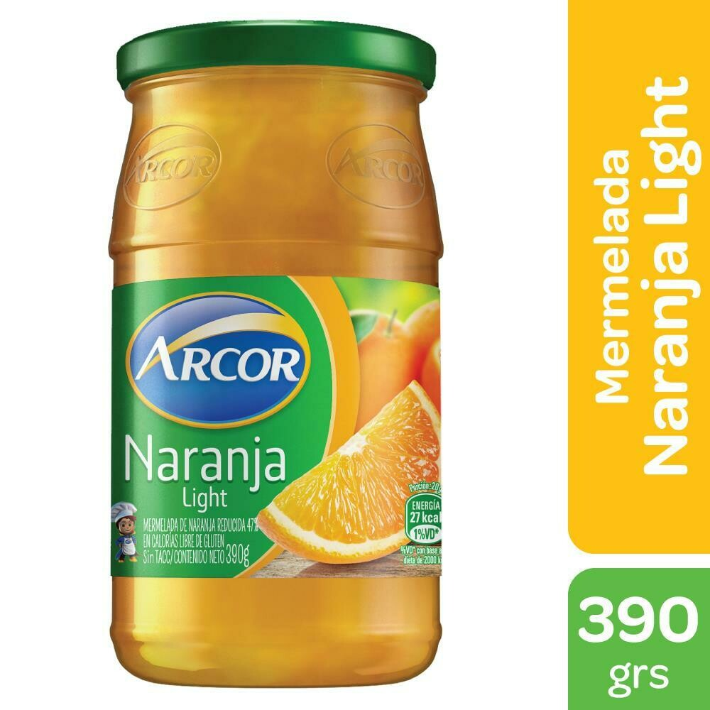 Mermelada Arcor Light Naranja x390Gr