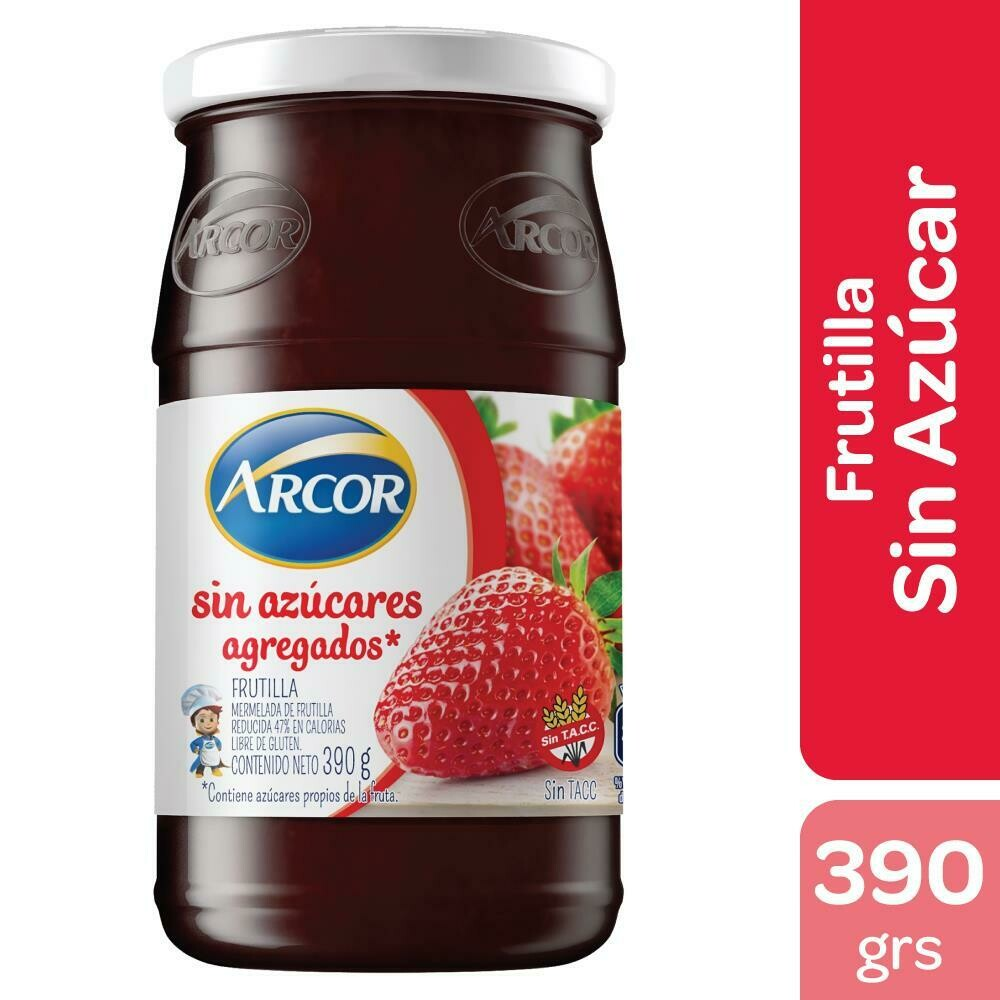 Mermelada Arcor Sin Azucar Frutilla x390Gr