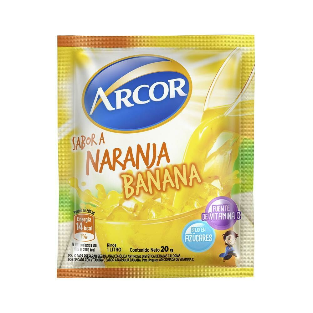 Jugo Arcor Sobre Naranja Banana