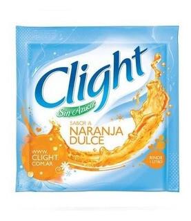 Jugo en Polvo Clight Naranja Dulce 7.5g