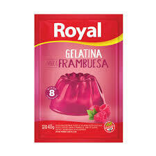 Gelatina Royal Frambuesa x40Gr