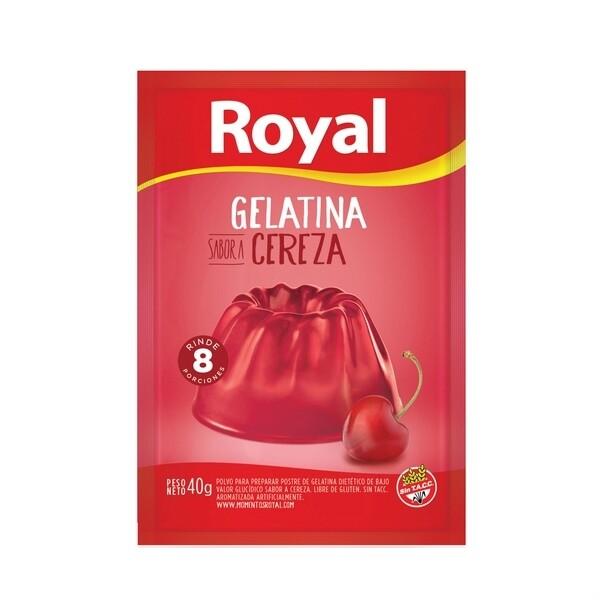 Gelatina Royal Cereza x40Gr