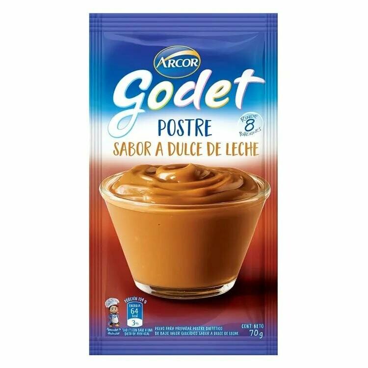 Postre Godet dulce de Leche x70Grs
