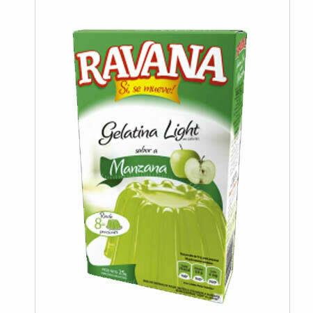 Gelatina Light Ravana Manzana 25Grs