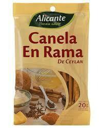 Alicante Sobre Canela de Ceylan Rama 20gr