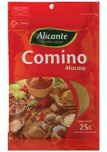Alicante Sobre Comino Molido