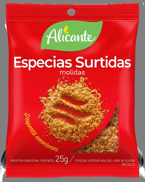 Alicante Sobre Especies Surtidas