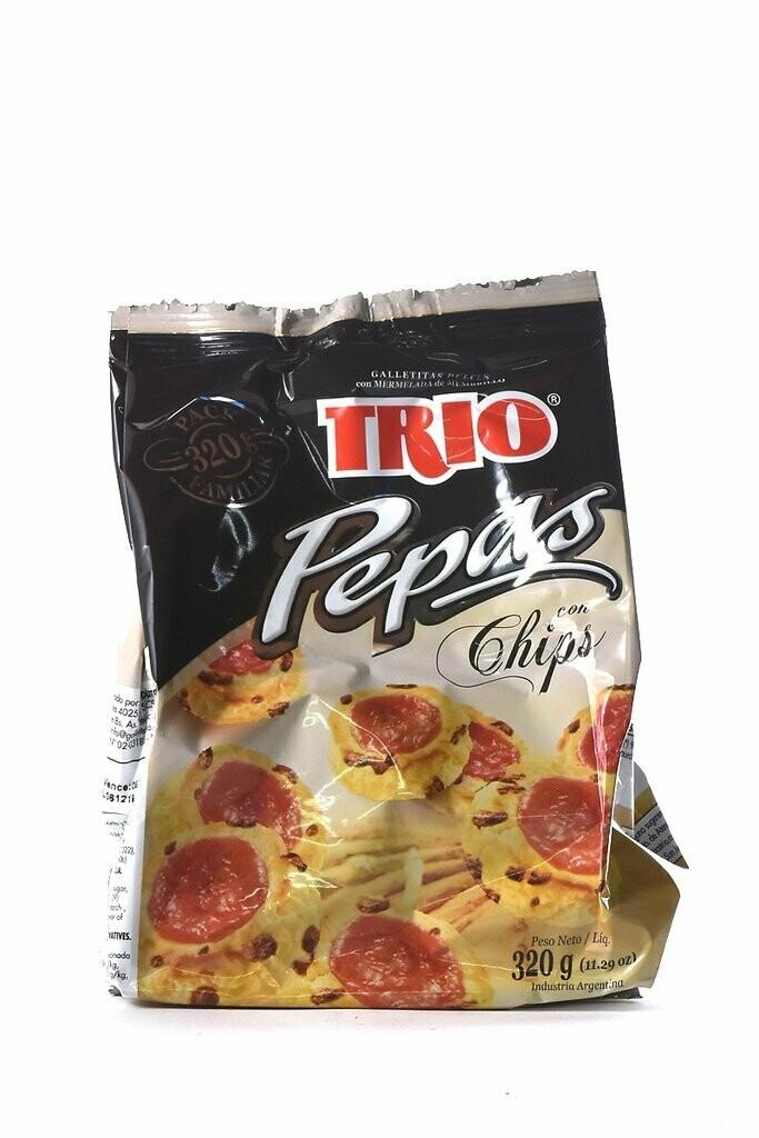 Trio Galletitas Pepas con chips 320gr