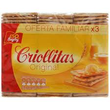Criollitas Galletitas Original x3u