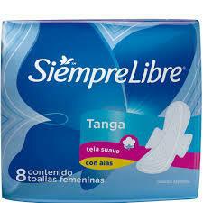 Toallitas Siempre Libre Tanga c/Ala 8u