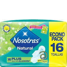 Toallitas Nosotras Natural Plus 16u