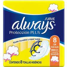 Toallitas Always Protección Plus 8u