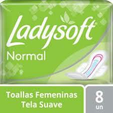 Toallitas LadySoft Tela Suave c/ala 8u