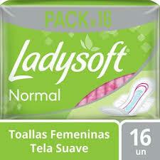 Toallitas LadySoft Verde 16u