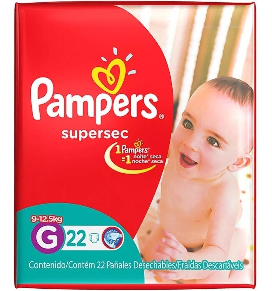 Pañales Pampers Rojo G 22u
