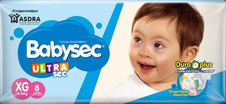 Pañales Babysec XXG 8u