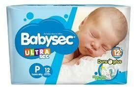 Pañales Babysec P 12u