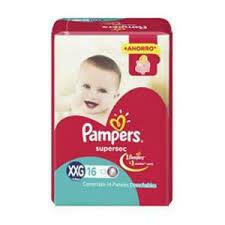 Pañales Pampers Supersec XXG 16u rojo