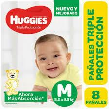 Pañales Huggies M 8u