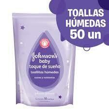Toallitas Humedas Johnson&Johnson Toque de sueño 50u