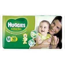 Pañales Huggies ActivSec M 10u