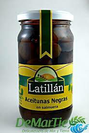 Aceitunas Negras Latillan