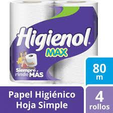 Papel Higiénico Higienol Max 4u