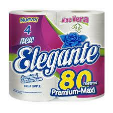 Papel Higiénico Elegante 80m  4u