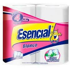 Papel Higiénico Esencial Blanco x4