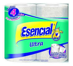 Papel Higiénico Esencial Doble hoja x4
