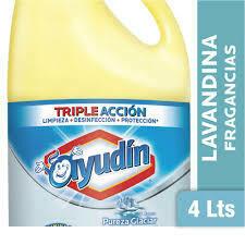 Lavandina ayudin pureza glaciar 4 litros