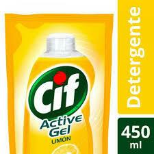 detergente cif active gel limon 450