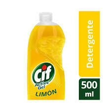 detergente cif active gel limon 500ml