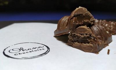 Barrita de Chocolate Rellena - Sin Azúcar y Sin Gluten.