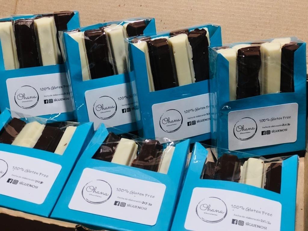 Krokant de Chocolate Rellenas - 8 unidades - Sin Azúcar.
