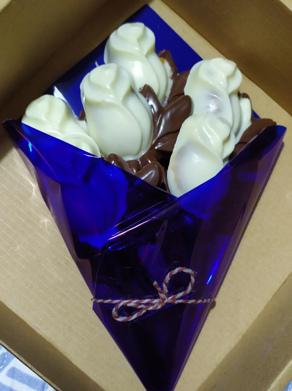 Ramo de Rosas de Chocolate Rellenas - 6 unidades.