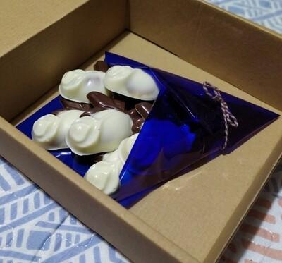 Ramo de Rosas Rellenas de Chocolate - 6 unidades - Sin Azúcar y Sin Gluten