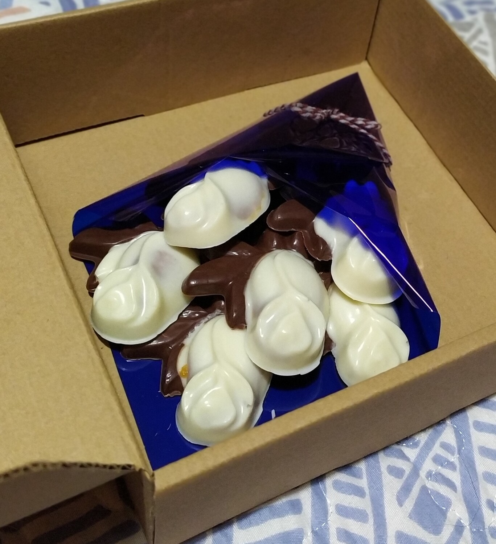 Ramo de Rosas Rellenas de Chocolate - 6 unidades - Sin azúcar.
