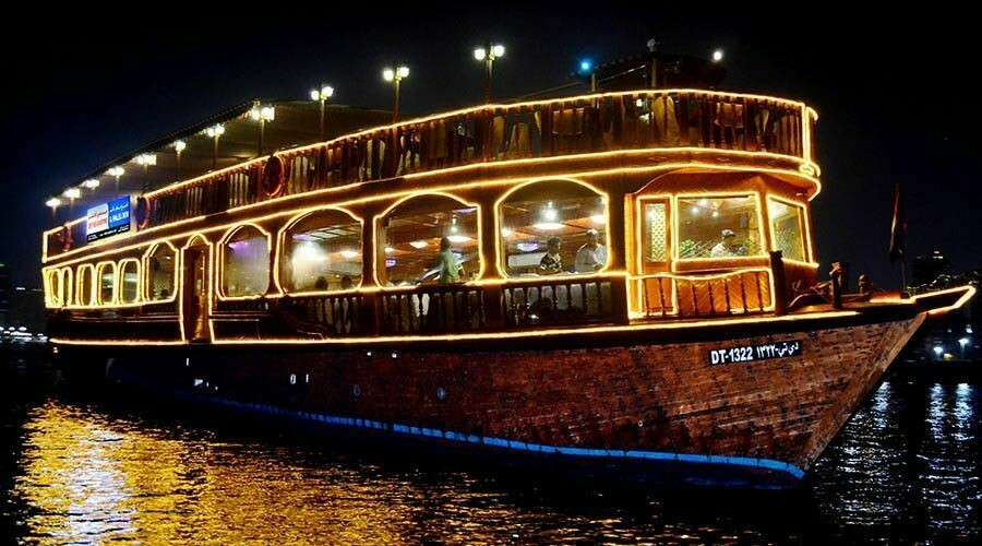 CREEK DHOW CRUISE  100 AED